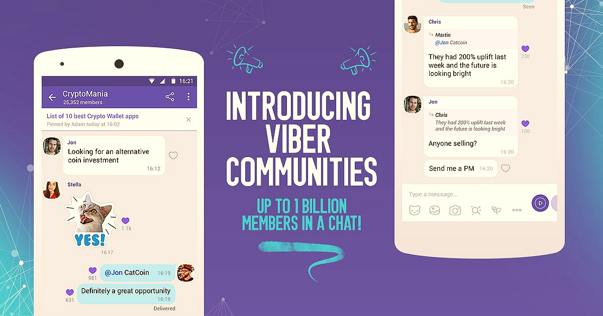 Viber Limitless Chat Communities